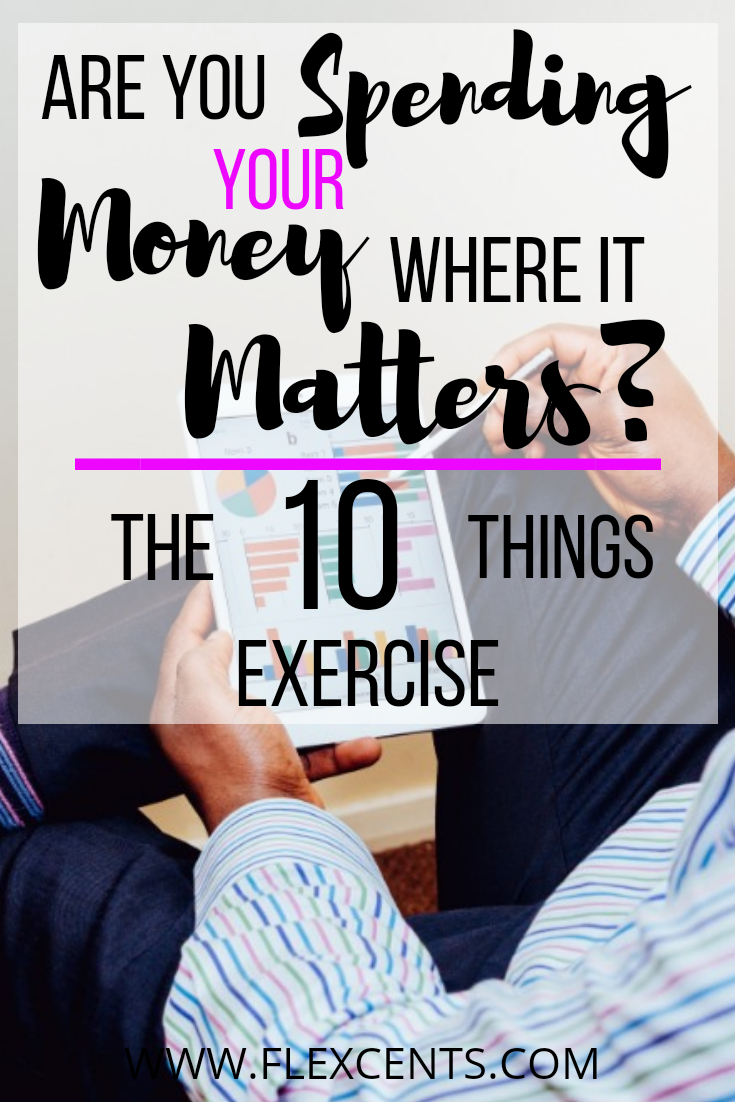 The 10 Things Exercise: Self-Evaluation Tool To Align Your Spending With Your Values